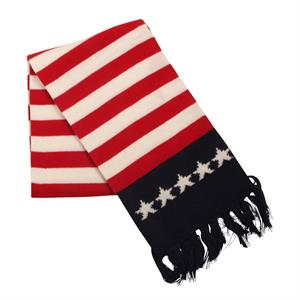 Stickad  Halsduk med Stars and Stripes
