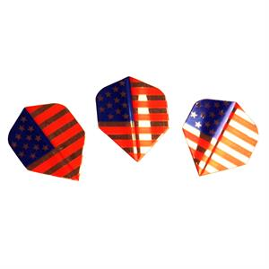 Amerithon dart flights med USA flagga, 250µ