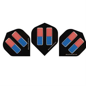 Ruthless dart flights med USA flagga, 200 µ