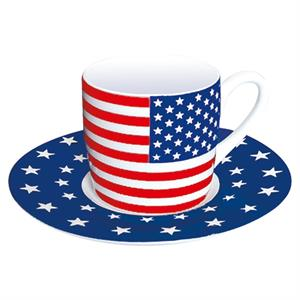 Espresso kopp med Stars and Stripes, porslin