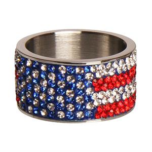 Bred ring med Stars and Stripes