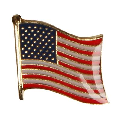 Billig pin med vajande USA flagga