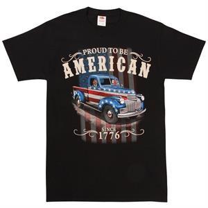 T-shirt med motiv av Truck med Stars and Stripes