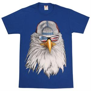 T-shirt med The Bald Eagle med Stars and Stripes glasögon