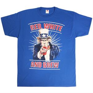 Blå T-shirt, Uncle Sam, Red, White and Brew