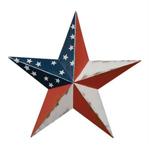 Liten American Barn Star med Stars and Stripes, 9 cm
