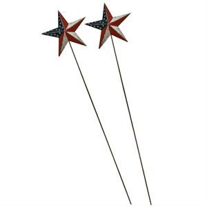 Barn Star blompinnar med USA motiv, 2-pack