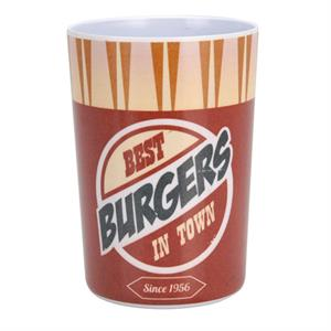 Mugg i melamin, USA retro design, Best Burgers