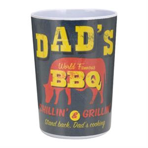 Mugg i melamin, USA retro design, Dads BBQ