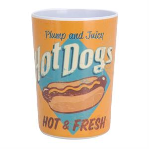 Mugg i melamin, USA retro design, Hot Dogs