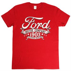 Ford Motor Company Michigan, t-shirt, röd