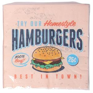 Servetter, Hamburgers, 20-pack